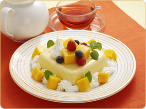 マンゴーのヨーグルトケーキ