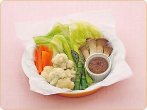 春野菜の蒸しバーニャカウダ