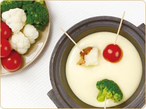 土鍋チーズフォンデュ