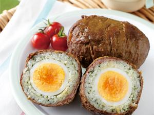 卵丸ごと肉巻きおにぎり