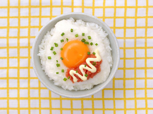 明太子+マヨネーズの卵かけごはん