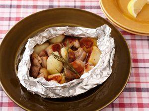チキンとポテトのホイル焼き