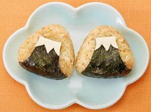 ツナマヨ醤油の富士山おにぎり