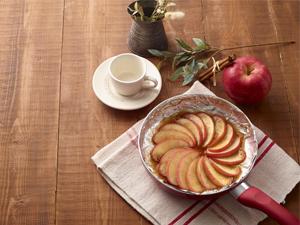 フライパンで焼りんご
