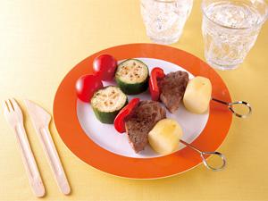 お肉と野菜のピンチョス