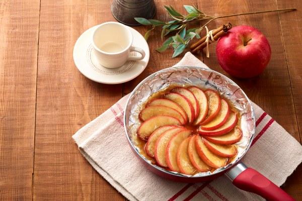 スイーツもおまかせ!「フライパンで焼りんご」