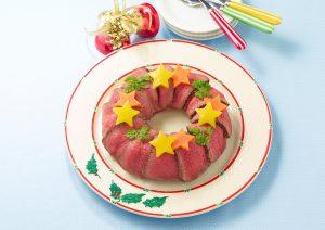 ローストビーフ&ライスのクリスマスリース