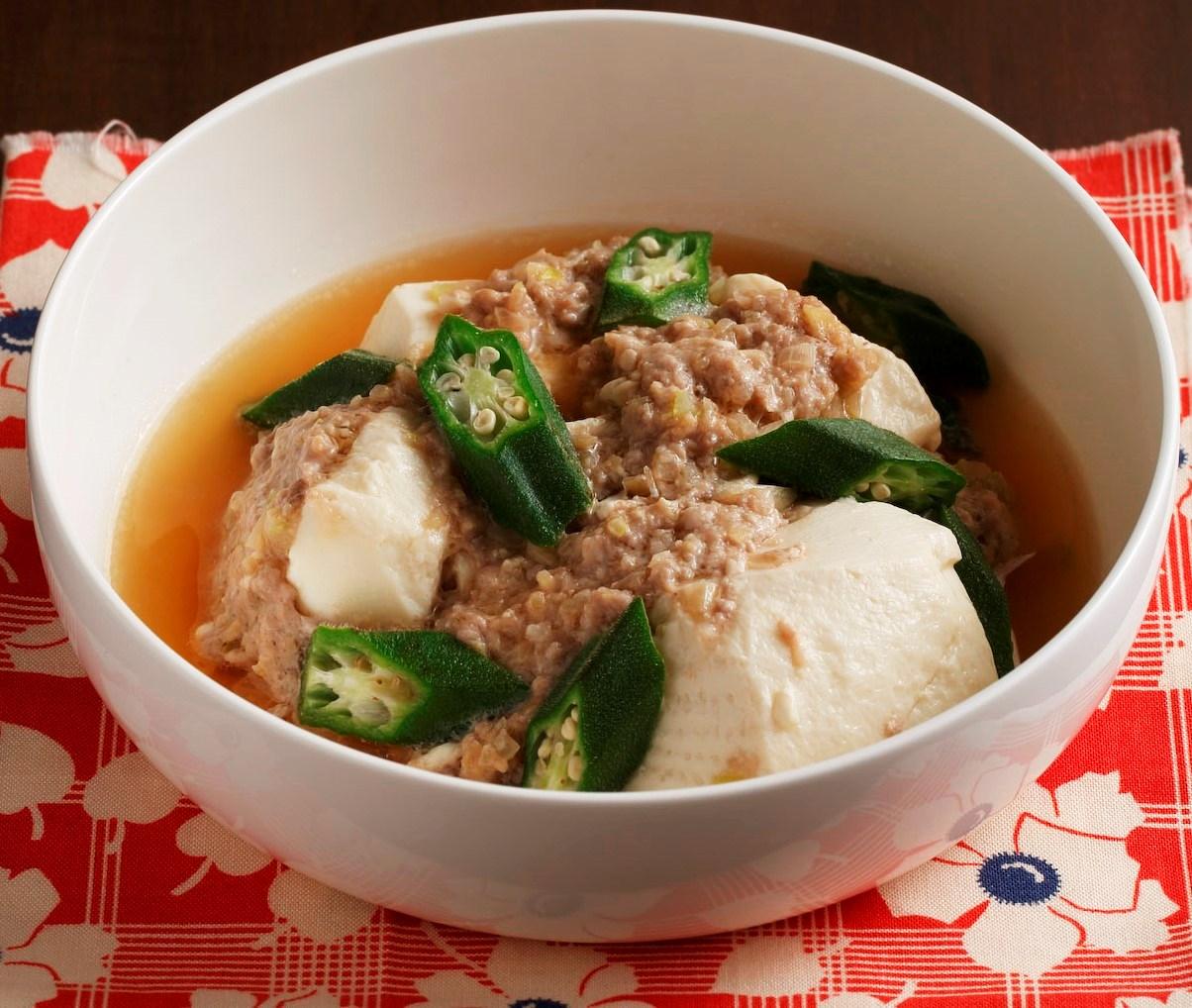 豆腐とひき肉のレンジ蒸し