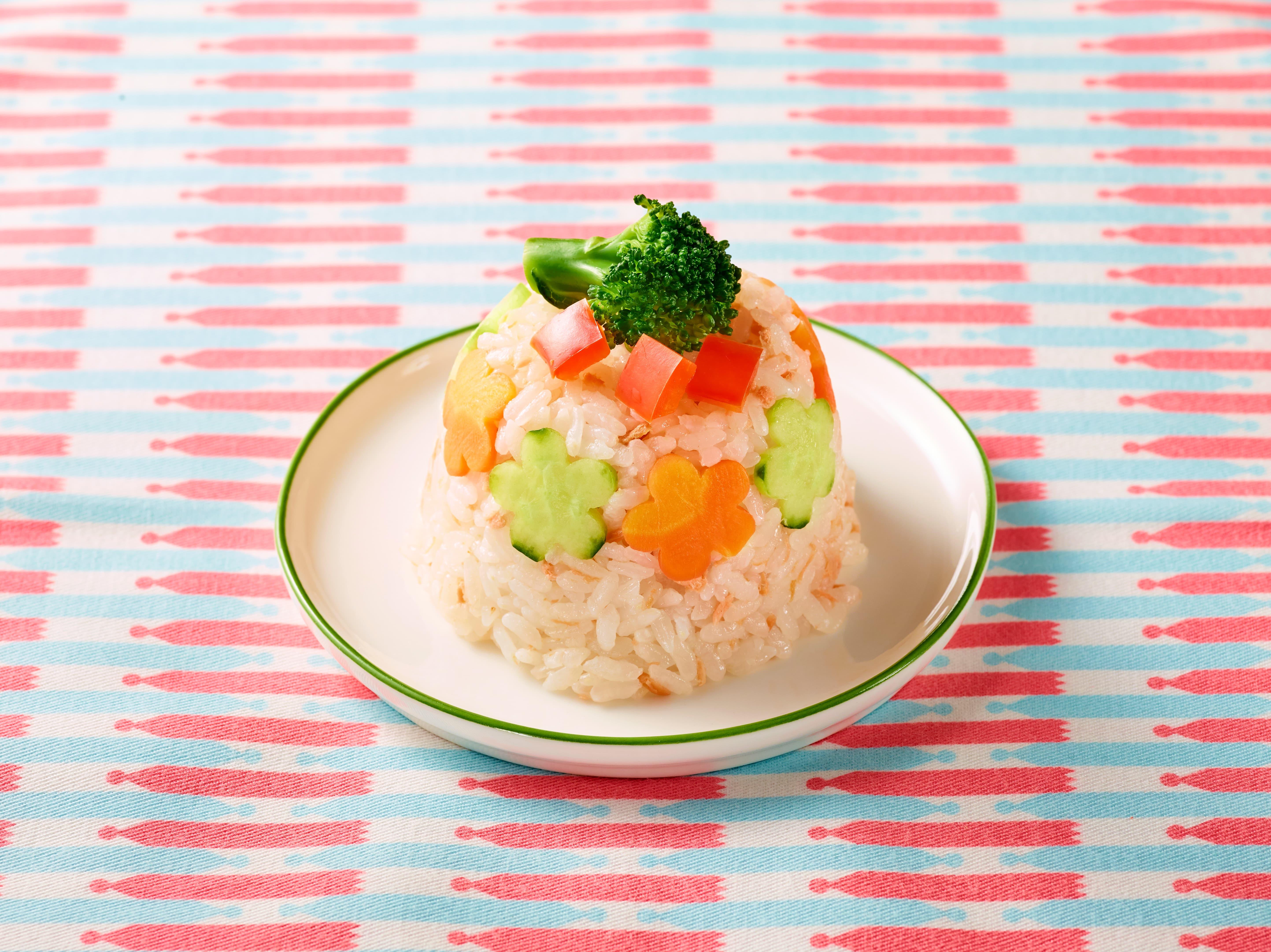 お花のケーキ寿司