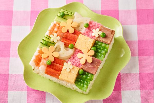 アートな仕上がり!「モザイク寿司」