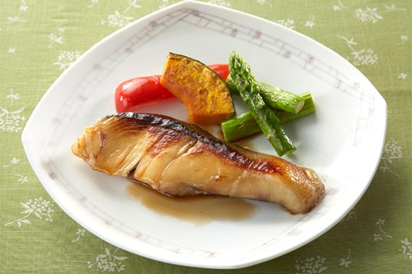 白身魚と野菜焼き