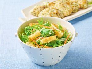 油揚げと水菜のサラダ