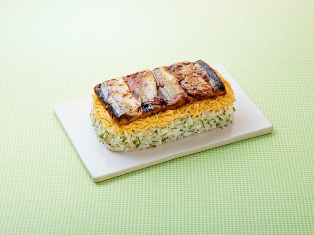 さんまの蒲焼き押し寿司