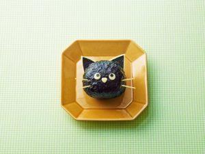 黒猫のおにぎり