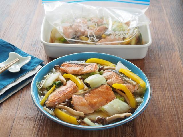 白菜と鮭の南蛮漬け