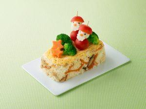 サンタクロースのケーキ寿司