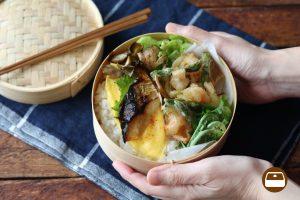 春の食材でお弁当を華やかに♪旬のアスパラガスとえびのかき揚げ弁当