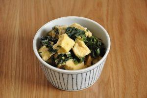 高野豆腐とほうれんそうの卵とじ風