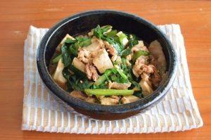 スタミナ肉豆腐