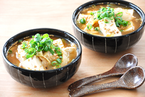 キムチと豆腐のピリ辛スープ