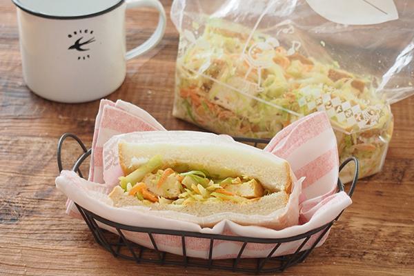 1:カレー風味をきかせてサンドイッチに