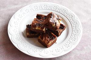 フライパンで簡単!チョコバナナケーキ