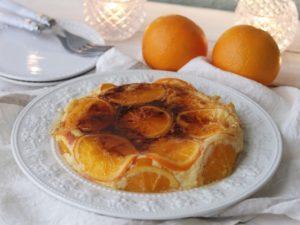 オレンジの香り華やぐチーズブリュレケーキ