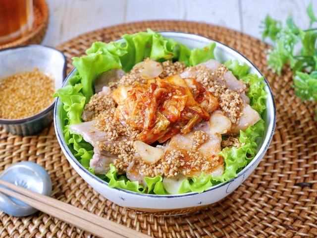 ガッツリ美味しい!サムギョプサル丼