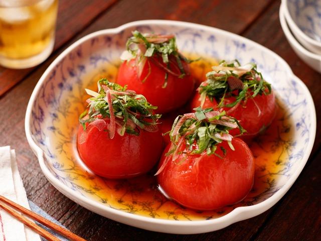 トマトの丸ごとだしびたし