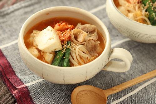 豆腐のチゲ風スープ