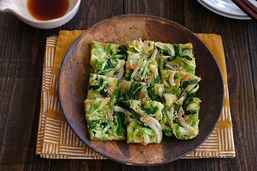 春野菜とツナとチーズのチヂミ